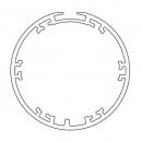 Адаптер для круглого вала 45*4,5 мм с рёбрами и пазом для приводов S