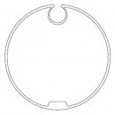 Адаптер для круглого вала 78 мм с увеличенным пазом 516.17802