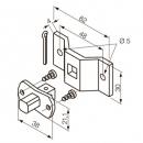 Квадратный штифт 10 мм + скоба для приводов S