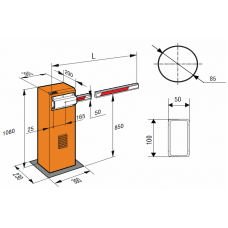 Монтажная пластина для вилочной опоры стрелы FAAC PLATE ENDFOOT